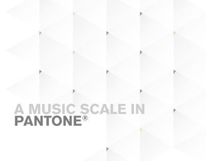 A music scale in Pantone