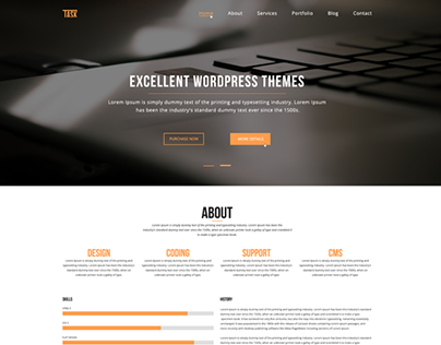 Task- One Page PSD Template