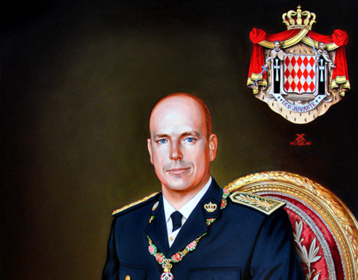 Prince Albert II of Monaco. Portrait by Ilian Rachov