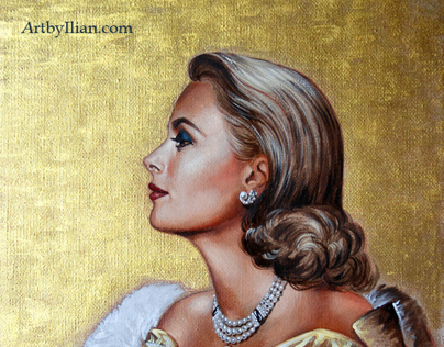 GRACE KELLY. Portrait by Ilian Rachov. Artbyilian.com