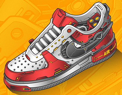 NIKE AIR FORCE 1 MECHA VECTOR SELF PROJECT