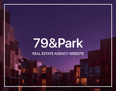 79&Park real estate agency website concept