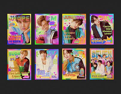 BTS RETRO MAGAZINE COVERS