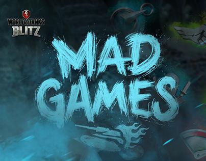 WoT Blitz Mad Games! Tanks modifications icons set.