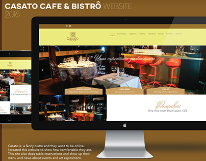 Casato Café Bistrô Website