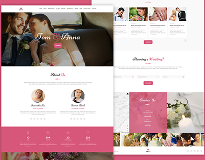 New Wedding demo for Unify Template