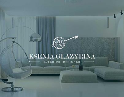 Логотип для дизайнера интерьера Ксении Глазыриной