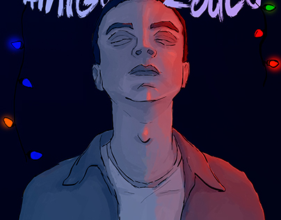 Poster inspired in Stranger Things (2018)