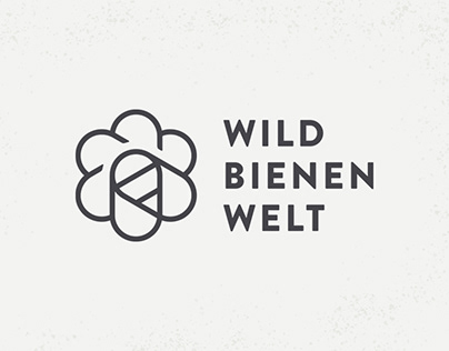 Wildbienenwelt, logo design