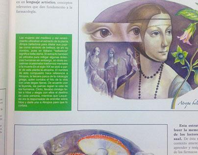 Diseño editorial. Libro: Farmacología médica
