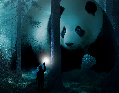 Giant Pandao in a Forest
