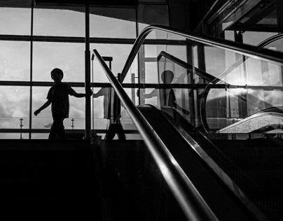 leica photographer at the airport / switzerland