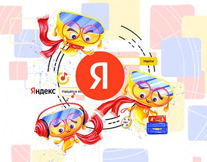 BRAND CHARACTER virtual glasses for Yandex company