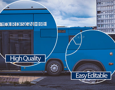 Vehicle/ Bus Branding Mockup - Free