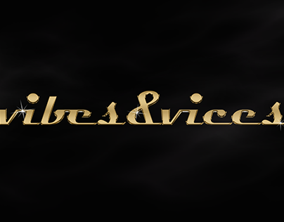 VIBES & VICES (gold/chrome)