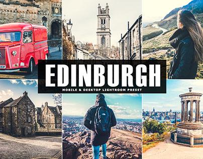Free Edinburgh Mobile & Desktop Lightroom Preset