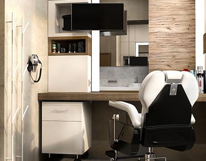 Cabinet in the spa salon