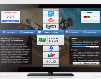 MEGANET IPTV vartotojo sąsajos koncepcija