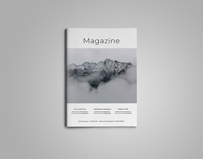 Simple & Clean Magazine Template VIII