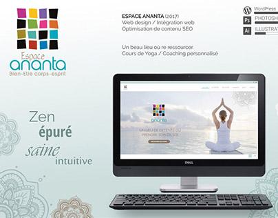 web design : espace ananta