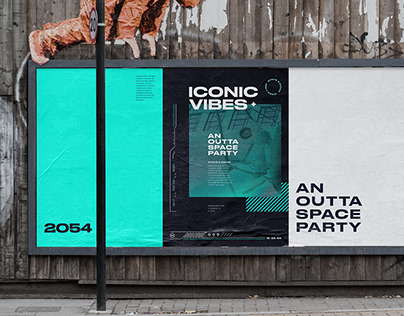 Iconic Vibes 2054 — Event Identity Concept