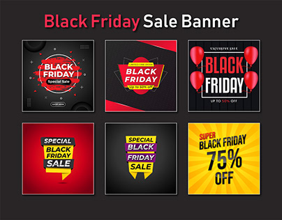 Black Friday Bundle Sale Banner or Social Post Template