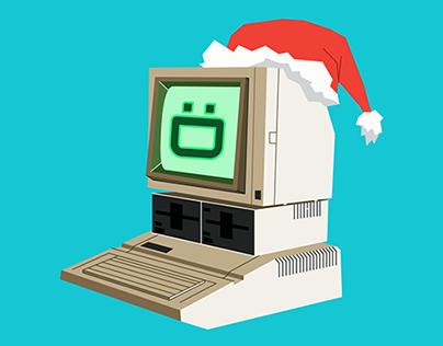 Retro Merry Computer
