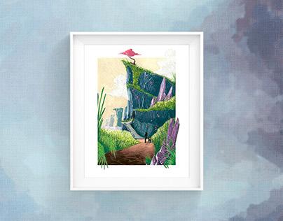 Rare Lands   Landscape Illustration