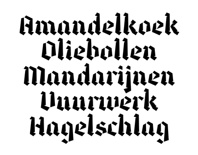 Dutch Winter: typeface and specimen
