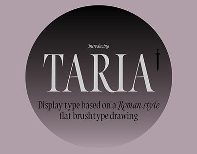 Taria Display typeface
