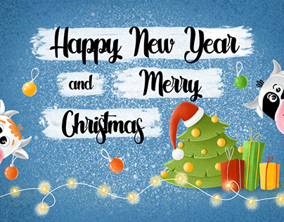 New Year and Christmas Post Cards
