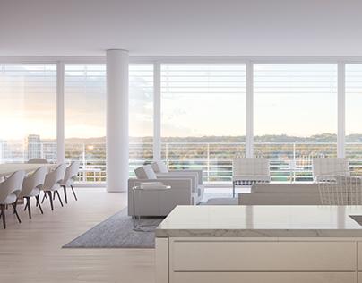 Luxury Apartment CGI Illustration.