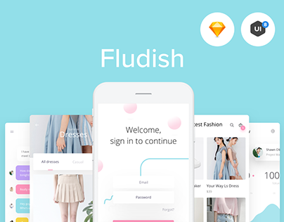 Fludish — Fluent iOS UI Kit designed for Sketch.