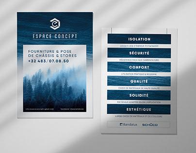 Espace Concept - Branding, Business cards, Flyers, …