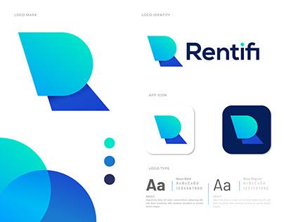 R letter logo design for Rentifi