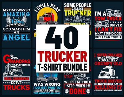 Truck DriverT-ShirtDesign Bundle