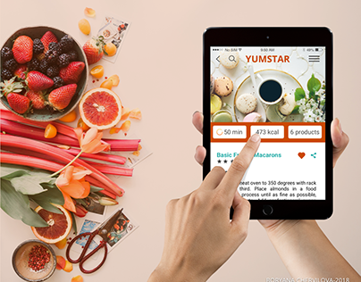 YUMSTAR - Grocery Shopping & Recipe App -UI/UX Concept