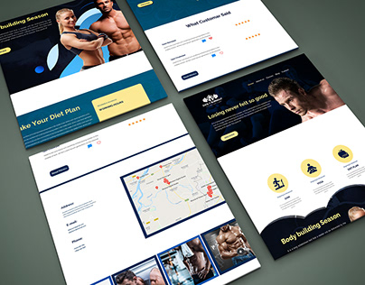 Daily Burnout Gym website psd template landing page