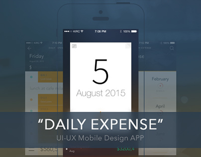 """Daily Expense"" Concept UI/UX Finance mobile APP Design"
