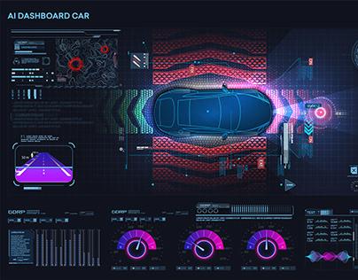Autonomous vehicle movement. Smart car sensing system