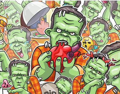 Frankenstein. Telegram official sticker pack.
