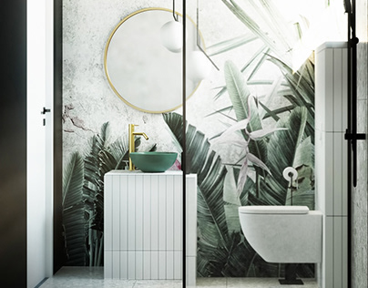 Interior design bathrrom 2 tropical style