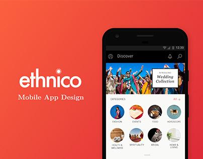 Ethnico Mobile App Design