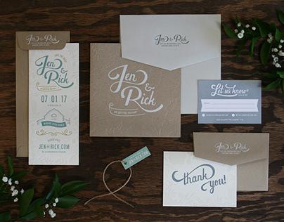 Jen & Rick Wedding Invitations