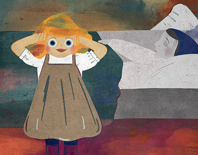 Versión de The dead mother de Munch