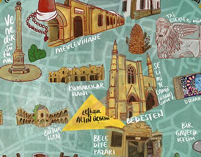 Nicosia Walled City Map