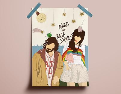 Illustration of Angus and Julia Stone
