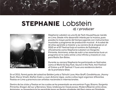 Presskit - Artista: Dj Stephanie Lobastein
