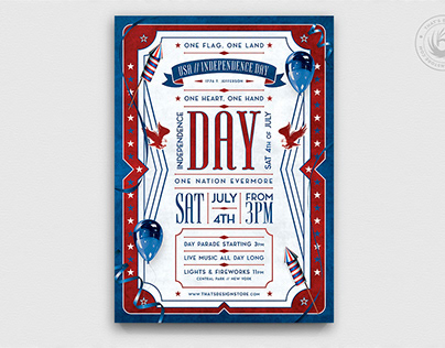 Independence Day Flyer Template V4