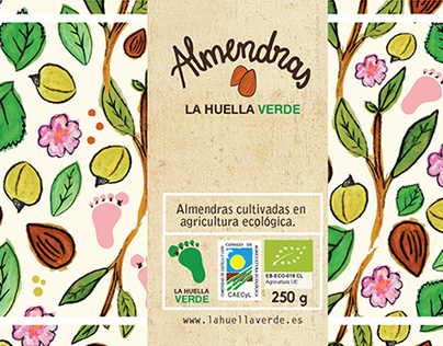 Label for Packaging. La Huella verde.
